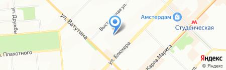 Средняя общеобразовательная школа №170 с дошкольным отделением на карте Новосибирска