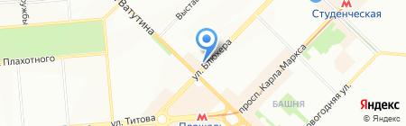 Астильба на карте Новосибирска