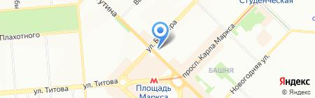 Товары для военных на карте Новосибирска
