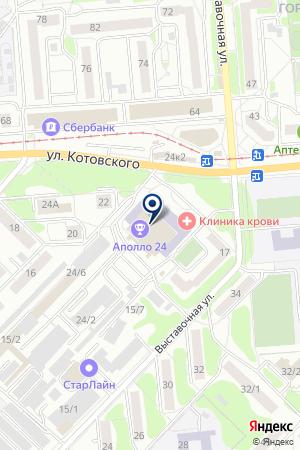 ТРАНСПОРТНО-ЭКСПЕДИТОРСКАЯ КОМПАНИЯ КОНТЕЙНЕРНЫЙ СЕРВИС на карте Новосибирска