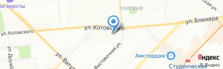 Банкомат Банк Левобережный на карте Новосибирска