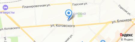 Топика на карте Новосибирска