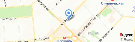 Анюта на карте Новосибирска