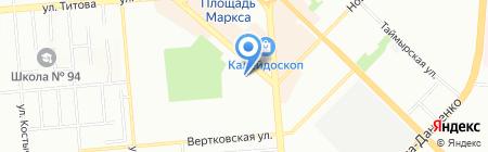 Полянка на карте Новосибирска