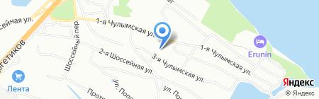 Средняя общеобразовательная школа №72 на карте Новосибирска