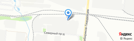 Палитра на карте Новосибирска