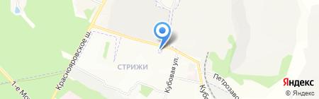 Омега на карте Новосибирска