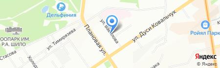 Зодиак на карте Новосибирска