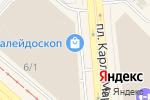 Схема проезда до компании Еврообои в Новосибирске