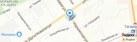Континент Вкуса на карте Новосибирска