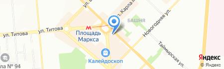 Банкомат Всероссийский Банк Развития Регионов на карте Новосибирска