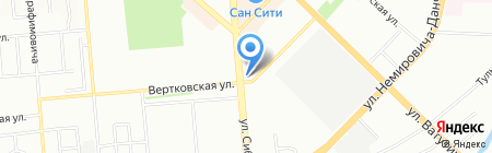 АСК на карте Новосибирска