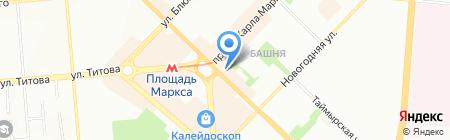 Студия строительства на карте Новосибирска