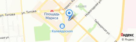 Планета. Одежда. Обувь на карте Новосибирска