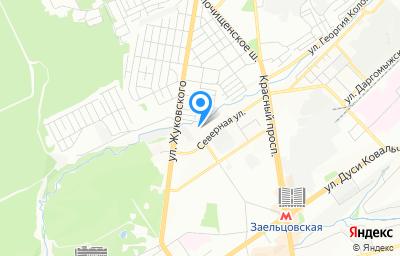 Местоположение на карте пункта техосмотра по адресу г Новосибирск, ул Дачная, д 66/3