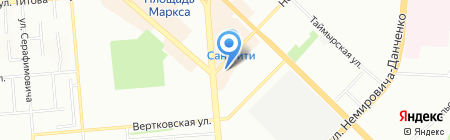 Просвет на карте Новосибирска