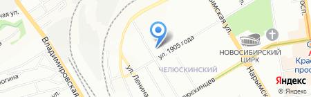 Студия трикотажа Елены Конаревой на карте Новосибирска