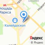 Мегас на карте Новосибирска