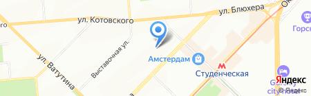 Радоград на карте Новосибирска