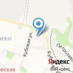 Глобус на карте Новосибирска