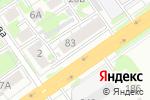 Схема проезда до компании Конфетный двор в Новосибирске