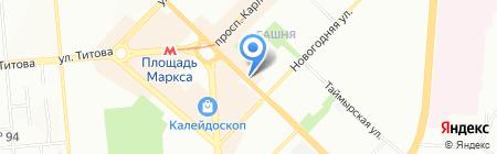 Одноклассники на карте Новосибирска