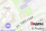 Схема проезда до компании Призвание в Новосибирске