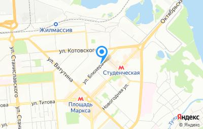 Местоположение на карте пункта техосмотра по адресу Новосибирская обл, г Новосибирск, ул Блюхера