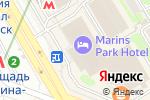 Схема проезда до компании Маринс Парк Отель Новосибирск в Новосибирске
