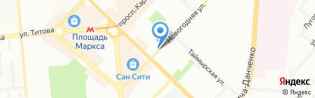 Консультант-Строй-Сервис на карте Новосибирска