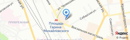 RBT на карте Новосибирска