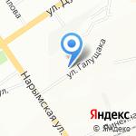 Магазин хлебобулочных изделий на карте Новосибирска