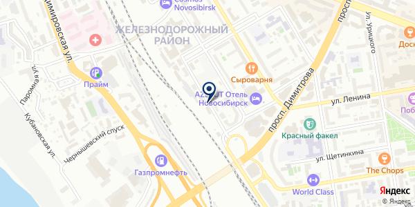 ЭкоЛэнд на карте Новосибирске