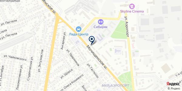 Копировальный центр на карте Новосибирске
