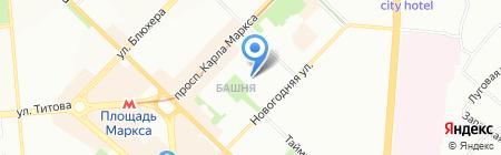 Детский сад №208 на карте Новосибирска