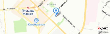 БАРС на карте Новосибирска