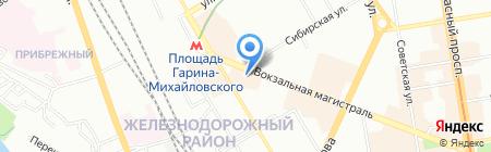 Глория Джинс на карте Новосибирска