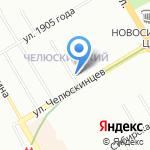 Сибирские колбасы на карте Новосибирска