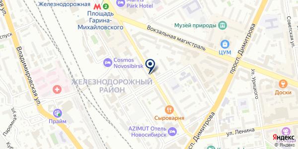 Сибмех на карте Новосибирске