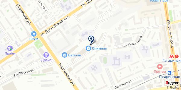 Серебряная нить на карте Новосибирске
