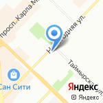 Деревенский дворик на карте Новосибирска
