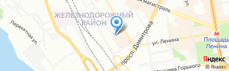 Прокуратура Железнодорожного района на карте Новосибирска
