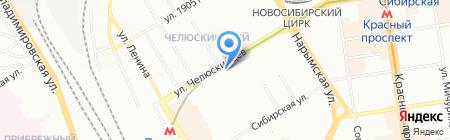 БизнесЦентр Триада на карте Новосибирска