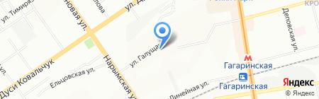 Эталон на карте Новосибирска