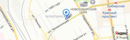 Спорт и активный отдых на карте Новосибирска