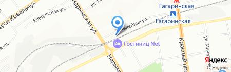Автоминистерство на карте Новосибирска