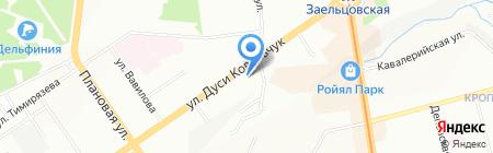 Уют Востока на карте Новосибирска