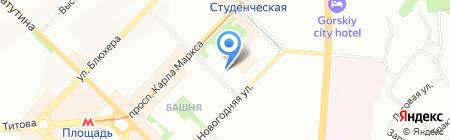 Под яблоком Ньютона на карте Новосибирска