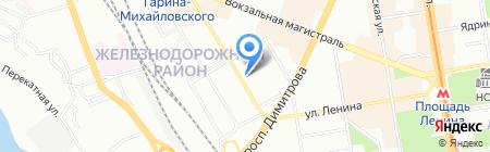 Мариинский сувенир на карте Новосибирска