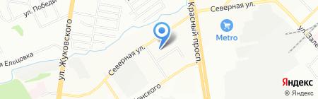 Камеллот на карте Новосибирска